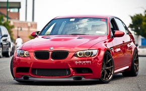 Picture bmw, turbo, red, tuning, power, germany, e90, e46