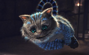Picture look, strips, smile, teeth, Cheshire cat, glow