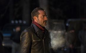 Picture jacket, profile, Jeffrey Dean Morgan, The Walking Dead, The walking dead, Season 6, Negan