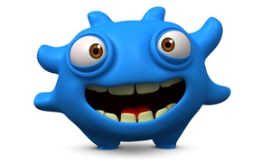Picture monster, monster, smile, cartoon, character, funny, cute