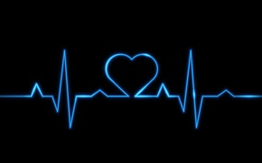 Picture heart, blue, electro