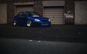 Picture tuning, Subaru, blue, blue, wrx, impreza, Subaru, sti, Impreza, stance