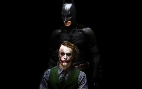 Picture background, Joker, black, the dark knight, Batman