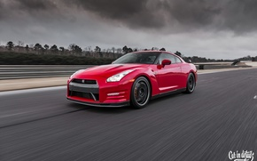 Picture nissan, red, wheels, japan, jdm, tuning, gtr, speed, r35, nismo, datsun