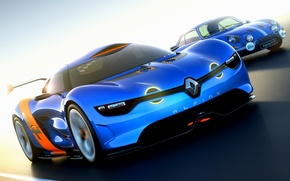 Picture Concept, the sky, the concept, Renault, Reno, racing track, the front, Alpine, Alpine, A110-50