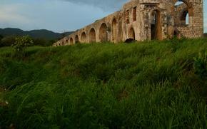 Picture grass, trees, landscape, ruins, grass, Jamaica, trees, landscape, ruins, Jamaica, the hydro -, Aqueduct, Aqueduct, …