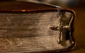 Picture macro, cross, book