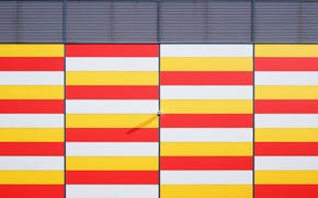 Picture colors, red, wall, white, stripes, pattern, colours, orange, lamp