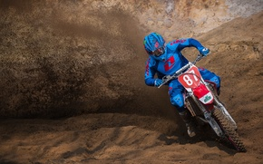 Wallpaper earth, race, motocross, dust, extreme sports, pilot