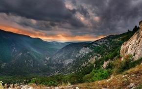 Picture the sky, trees, mountains, Crimea, lead