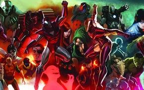 Picture marvel, captain america, thor, hulk, iron man, mandarin, dr doom, namor, Madame Masque, Iron Monger, …