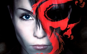 Picture girl, tattoo, dragon, actress, Rapace, Noomi