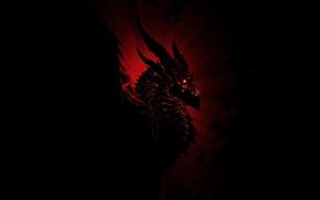 Wallpaper Deathwing, world of warcraft, warcraft, Deathwing, Black dragon, aspect, fantasy, MMORPG