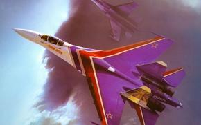 Picture figure, art, Su - 27