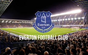 Picture wallpaper, sport, logo, stadium, football, Everton FC, Goodison Park