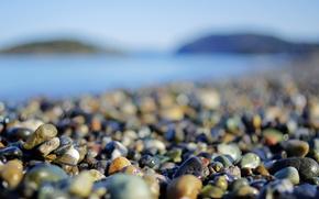 Wallpaper macro, wallpapers, beach, photo, shore, pebbles, stones