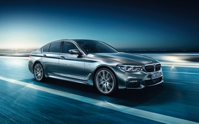 Picture BMW, 5 Series, Silver