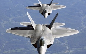 Picture aircraft, pair, F-22, raptor