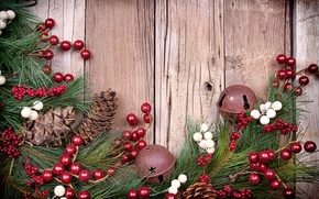 Picture decoration, berries, tree, bumps