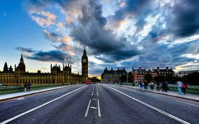 Picture England, London, big ben, clouds, London, England, houses of parliament, Westminster Palace