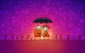 Picture rain, Love, umbrella