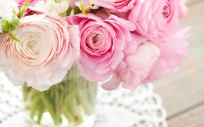 Picture flowers, bouquet, pink, buttercups