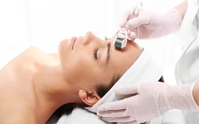 Picture woman, beauty treatments, mesotherapy