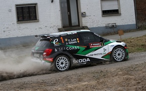 Picture Dust, House, Rally, Skoda, Fabia, Loix