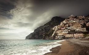 Picture Italy, Campania, Amalfi Coast, Positano, Gulf of Salerno