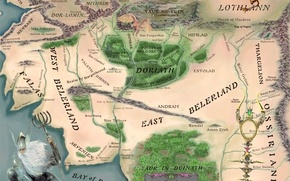 Picture map, The Lord Of The Rings, The Lord of the Rings, John Ronald Reuel Tolkien, ...