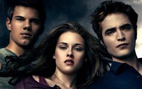 Picture Girl, Moon, Fantasy, Clouds, 2010, Kristen Stewart, Robert Pattinson, Eclipse, The, Wolf, Eyes, Vampire, Twilight, …