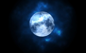 Picture the sky, night, nature, background, Wallpaper, the moon, wallpaper, moon, sky, widescreen, night, background, full ...