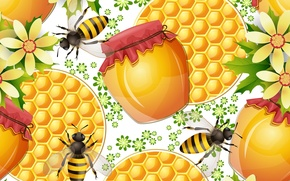Picture texture, bees, honey, honey, texture, bees