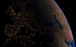 Wallpaper orbit, Europe, Electricity, planet