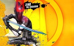Picture fiction, sword, logo, guy, Killer, Assassin, killer, Zero, RPG, 2K Games, Borderlands 2, Gearbox Software, …
