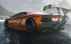 Picture Lamborghini, Tuning, LP700-4, Aventador, Supercar, Wheels, Track, Spoiler, DRAG