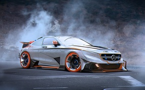 Picture Mercedes-Benz, Car, AMG, Tuning, Future, Silver, S63, by Khyzyl Saleem