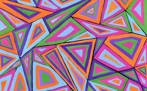 Picture line, pattern, paint, figure, triangle