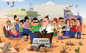 Picture cartoon, humor, Fox, Bordertown, Border town