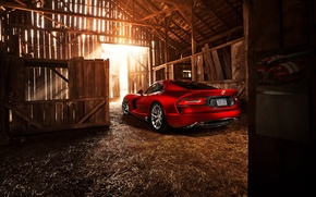 Picture the sun, light, red, the barn, Dodge, light, red, the barn, Dodge, Viper, sun, GTS, …