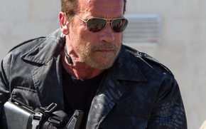 Picture glasses, Arnold Schwarzenegger, Arnie, The Expendables 3, The expendables 3