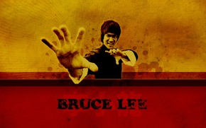 Picture fighter, Bruce Lee, kung fu