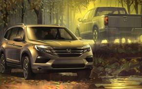 Picture figure, car, Honda Ridgeline
