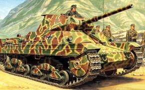 Picture figure, tank, Panzerkampfwagen P40 737(i), Heavy Tank P26/40