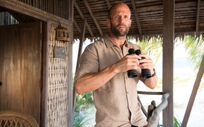 Wallpaper look, binoculars, Jason Statham, Jason Statham, Mechanic 2, Mechanic: Resurrection