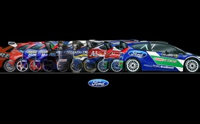 Picture Ford, Auto, Sport, Machine, Ford, Background, WRC, Rally, Rally, Side view, 50 years