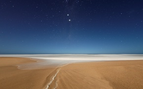 Wallpaper beach, the sky, stars, night, the ocean, the evening, constellation