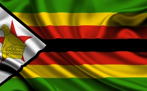 Picture Flag, Orange, Black, Texture, Yellow, Green, Flag, Republic of Zimbabwe, Zimbabwe, The Republic Of Zimbabwe, ...