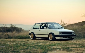 Picture volkswagen, golf, bbs, the style