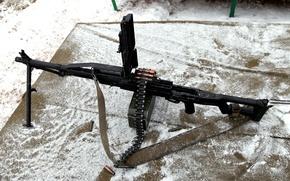 Wallpaper hardened, strap, 6П41, 62×54 mm R, upgraded, PKP Pecheneg, 62 mm, sample, firearms, cartridges, tape, ...